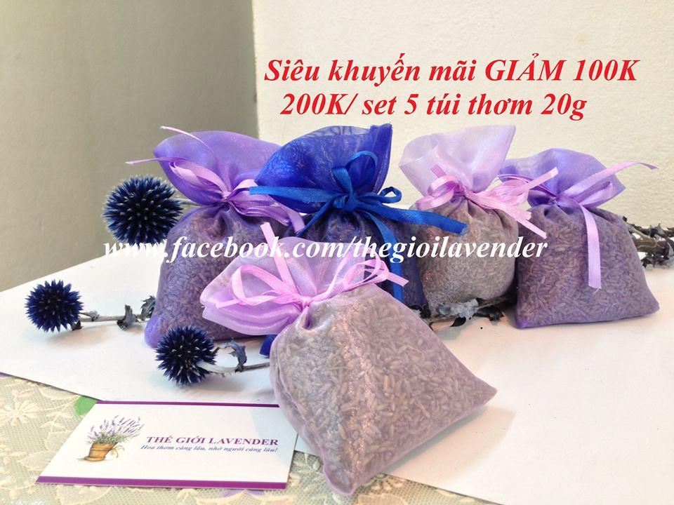 túi thơm nụ hoa lavender khô